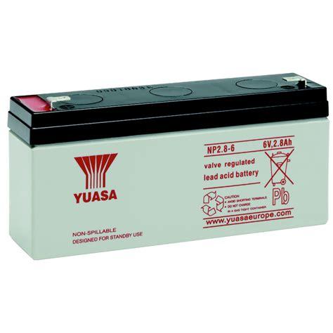 Batery Ups Yuasa Np 1 2 6 np2 8 6 2 8ah 6v ersatzbatterie yuasa bellequip