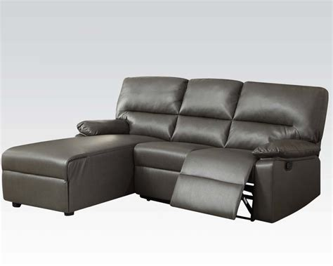 Gray Reclining Sectional by Acme Furniture Gray Sectional W Reclining Chair Artha Ac51560