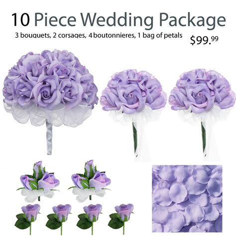 Wedding Flowers Silk by 10 Wedding Package Silk Wedding Flowers Lavender