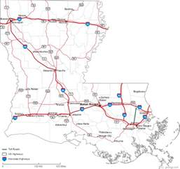 louisiana driving map map of louisiana
