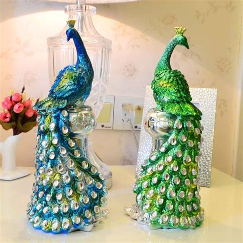Peacock Wedding Decorations by Resin Peacock Ornaments Wedding Gift Ideas And Practical