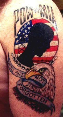pow mia tattoos patriotic tattoos designs pictures