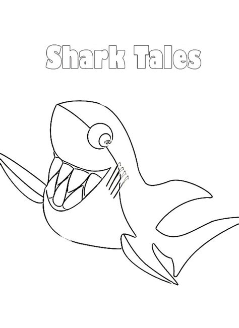 tale coloring pages pin sharks tale coloring pages on