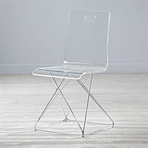 clear acrylic desk chair now you see it acrylic desk chair the land of nod