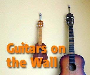is it ok to hang guitars on wall marvellous ideas how to hang guitar on wall house