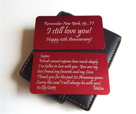 Wedding Anniversary Card Inserts by 24 Best Wedding Anniversary Wallet Card Inserts Images On