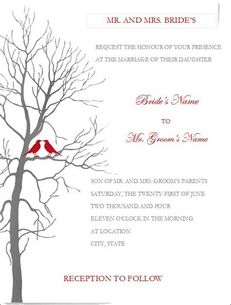 Free Wedding Invitation Templates For Microsoft Word Free Wedding Invitation Templates