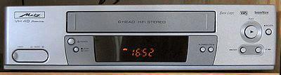 format vhs adalah blue star vtr video tape recorder atau vcr video