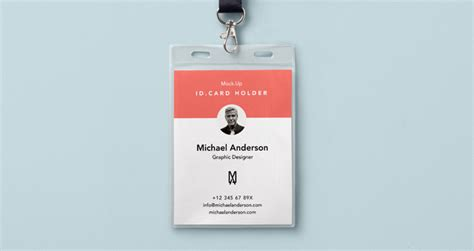 id card design template psd free download psd identity card holder mockup psd mock up templates