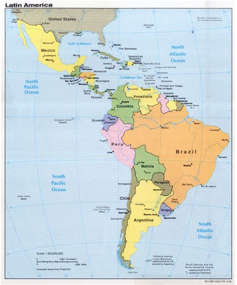 south america major cities map large detailed political map of america with