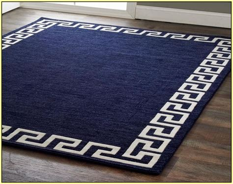 Greek key rug navy home design ideas