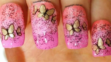 nail tutorial fiori butterfly flower nail tutorial unghie con fiori e