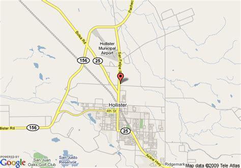 california map hollister map of best western san benito inn hollister