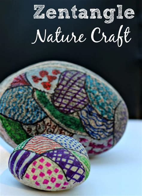 easy nature crafts for easy nature craft for zentangle rocks edventures