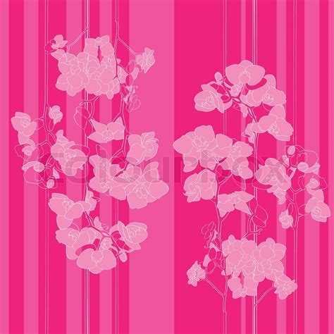 orchid pattern vector pink orchids pattern stock vector colourbox