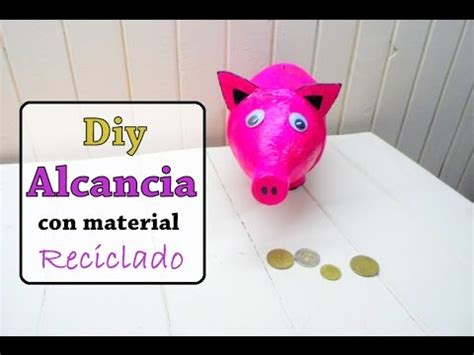 alcansia con material de desecho diy alcancia de cerdito con material reciclado argentina