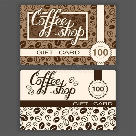 Temple Coffee Gift Card - coffee shop gift cards templates vector illustration of coffee stock vector