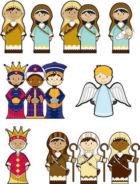 printable nativity scene cutouts nativity scene cutouts printables made by joel travel size