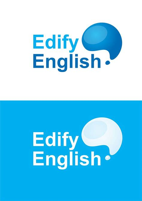 english tutorial online website logo design for online english tutorial website logo