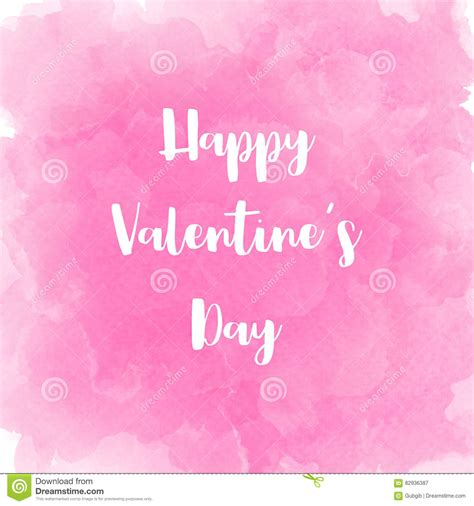 Happy Day Pink happy s day lettering on pink watercolor background stock illustration image 82936387