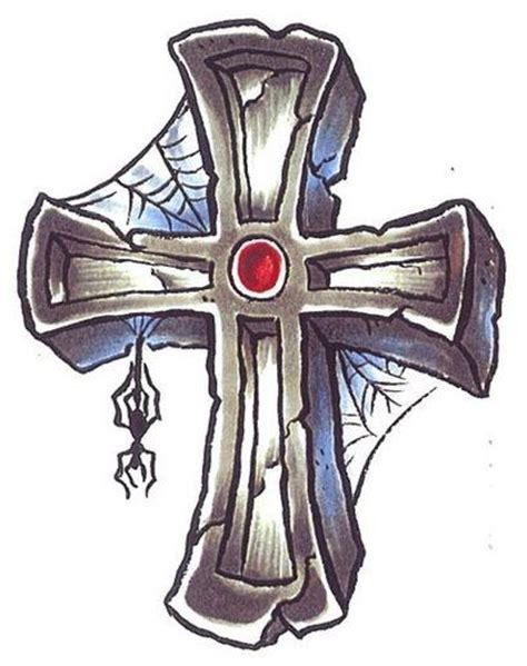 rugged cross tattoo pin by fran lafferty on cool crosses