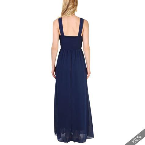 Db Maxi Shinta 1 femmes robes soir 233 e maxi longue mousseline demoiselles d honneur c 233 r 233 monies ebay