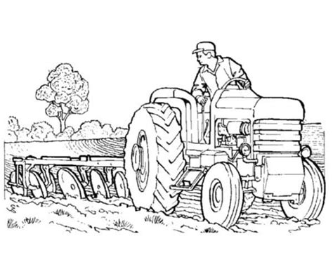 coloring page of tractor and snow plow 25 best tractor coloring pages to print http procoloring