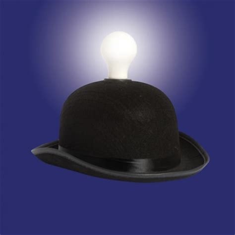hat lights light headed bowler hat with led light bulb