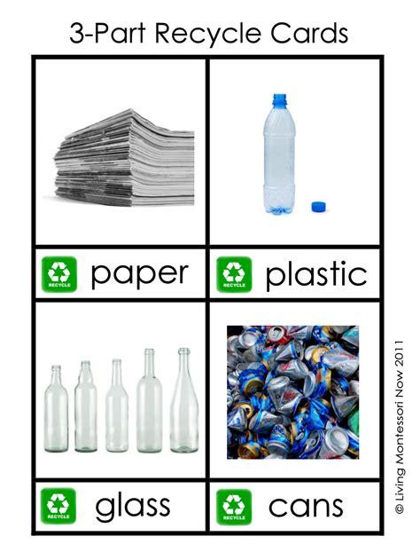 printable montessori st game paper free montessori printable 3 part recycle cards