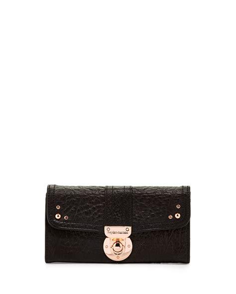 Hayden Harnetts Mercer Wallet lyst hayden harnett leather flap lock wallet black in black