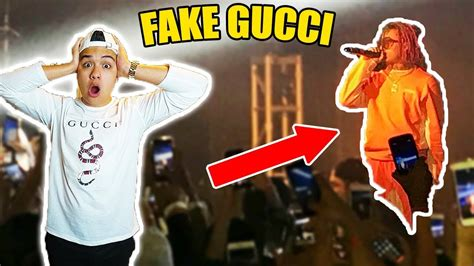 lil pump vlog wearing fake gucci to lil pump tour called out youtube