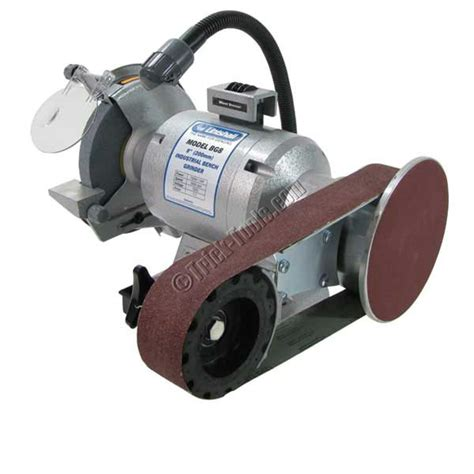 bench grinder attachment linishall 8 inch hd bench grinder with belt and disc