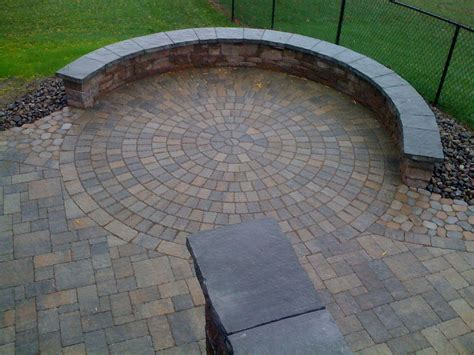 Circular Patio by Beautiful Circular Patio With Arched Bench