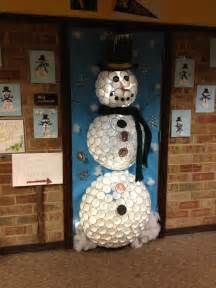 Our holiday door decoration contest entry created by janice kathy