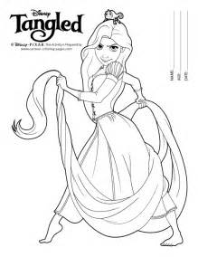tangled tale colouring pages