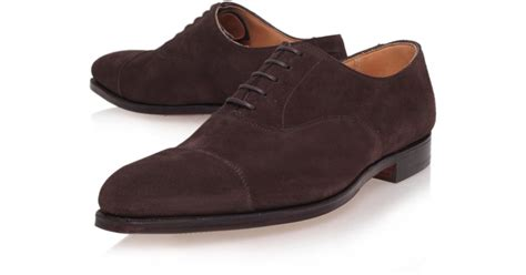 oxford shoes brown crockett and jones brown hallam suede oxford shoes in