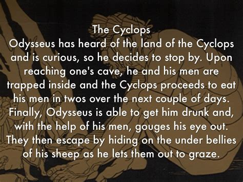 Summary Of The Lotus Eaters The Odyssey Timeline By Christopher P