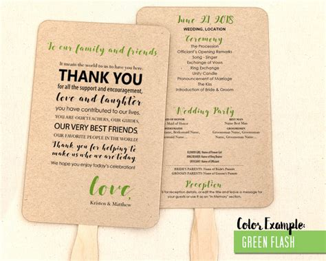 Wedding Thank You Message by Thank You Message Wedding Program Fan Cool Colors