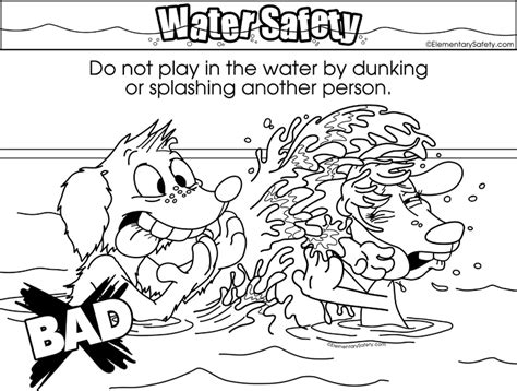 coloring pages water safety coloring water safety
