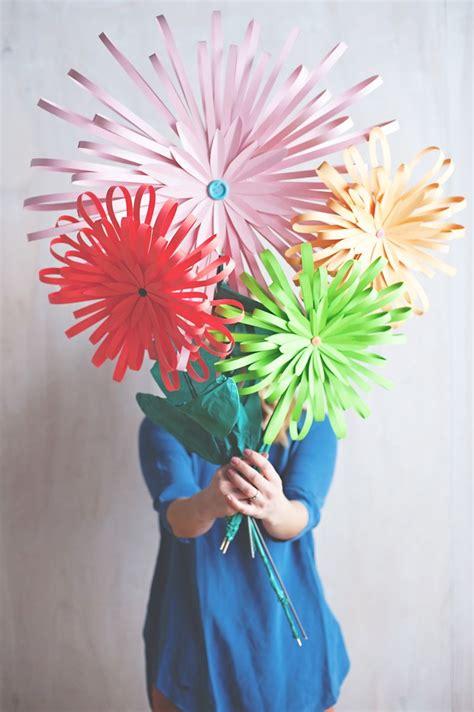 huge paper flower tutorial diy paper flower tabletop display flower giant paper
