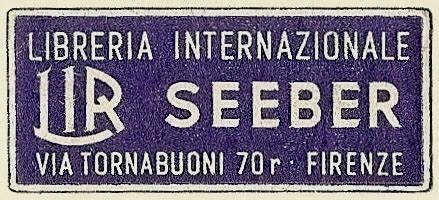 libreria seeber firenze seven roads gallery of book trade labels s