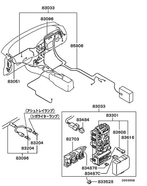 wiring attaching parts for 1996 2000 mitsubishi lancer