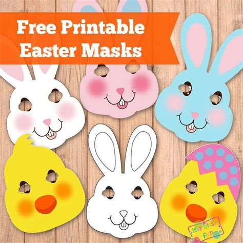printable chick mask easter masks bunny rabbit and chick template bunny