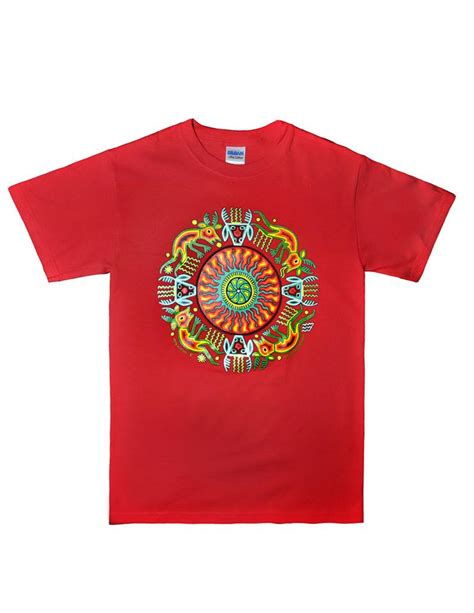 hindu pattern t shirt huichol indian t shirt tatewari design latin
