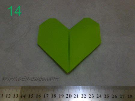 cara membuat origami hati dari kertas membuat hati dari kertas origami lengkap dengan gambarnya
