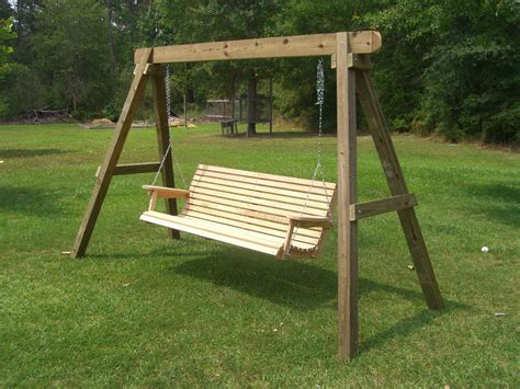 porch swing a frame reliable and affordable wooden patio swing for sale