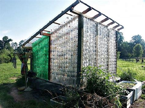 Tiny Home With Greenhouse Repurposed Plastic Bottle Greenhouses