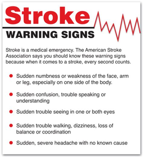signs of a stroke in a stroke care in alexandria la rapides regional center