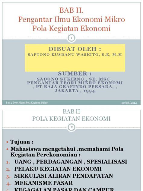 Mikroekonomi Teori Pengantar Edisi Ketiga Rajawali Press pengantar ekonomi mikro sadono sukirno pdf