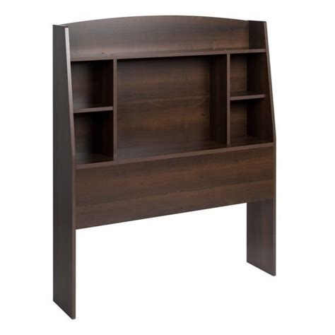 bookcase headboard twin twin bookcase headboard in espresso ehft 0401 1